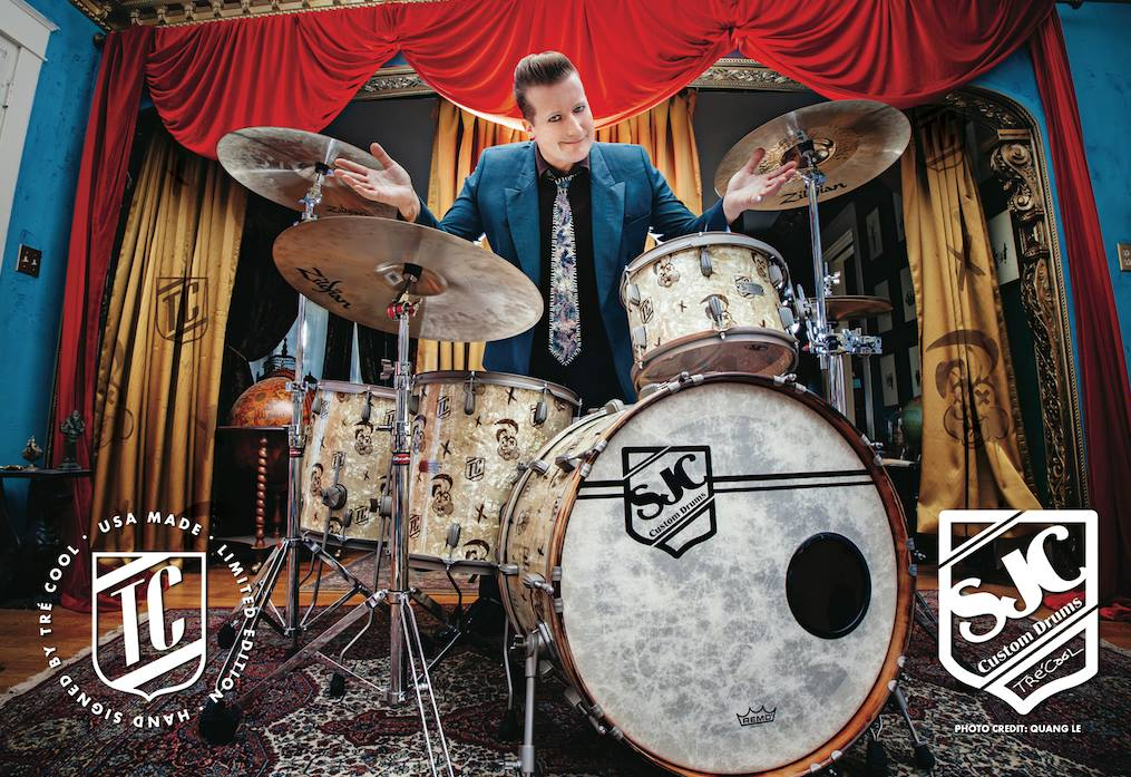 Tre Cool Releases Custom Bunny Drum Kit Green Day Inc